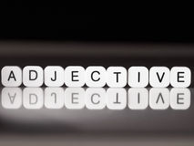 Adjective word Stock Photo