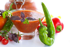 Adjika sauces from fresh vegetables Royalty Free Stock Image