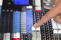 Adjust audio sound mixer Royalty Free Stock Images