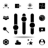 Adjust brightness settings icon. Signs and symbols can be used for web, logo, mobile app, UI, UX. On white background royalty free illustration
