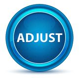 Adjust Eyeball Blue Round Button. Adjust Isolated on Eyeball Blue Round Button royalty free illustration