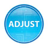 Adjust floral blue round button. Adjust Isolated on floral blue round button royalty free illustration