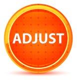 Adjust Natural Orange Round Button. Adjust Isolated on Natural Orange Round Button royalty free illustration