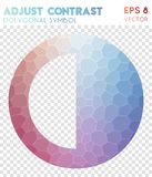Adjust polygonal symbol. Actual mosaic style symbol. awesome low poly style. Modern design. adjust icon for infographics or presentation stock illustration