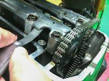 Adjust valve clearance Stock Photos