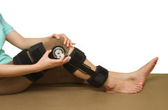 Adjustable angle knee brace support Royalty Free Stock Photography
