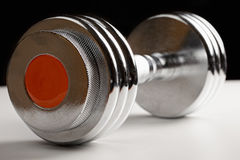 Adjustable dumbbell closeup Stock Image