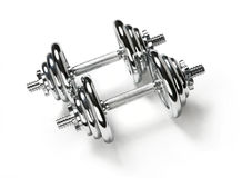 Adjustable dumbbells Royalty Free Stock Photos
