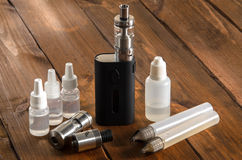 Adjustable electronic cigarette, Non carcinogenic alternative for smoking. Vape Stock Photos