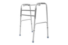 Adjustable folding walker. For elderly, disabled isolated on white Stock Images