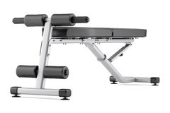 Adjustable gym bench  on white. Background Royalty Free Stock Images