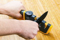 Adjustable manual knife sharpener Stock Photography