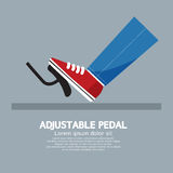 Adjustable Pedal. Foot Depressing The Adjustable Pedal  Of A Car Vector Illustration Royalty Free Stock Photo
