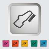 Adjustable pedal. Single icon Vector illustration Royalty Free Stock Photos