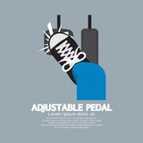 Adjustable Pedal. Top View Of Foot With Adjustable Pedal Vector Illustration Royalty Free Stock Image