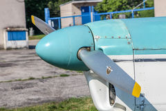Adjustable propeller on sport aircraft Royalty Free Stock Photography