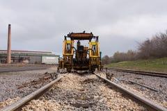 Adjustable rail way. Machine for adjustable rail way Royalty Free Stock Photography