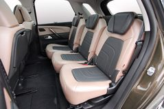 Adjustable rear seats in a luxury car Royalty Free Stock Photos