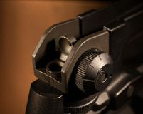 Adjustable rear sight Royalty Free Stock Photography