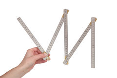 Adjustable ruler. Against a white background Stock Image