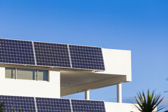 Adjustable solar panels Stock Image