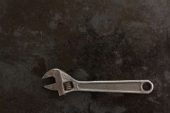 Adjustable spanner ob black metal Stock Photos