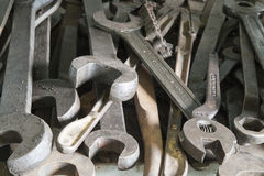 Adjustable spanners and open end spanners Stock Photography