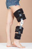 Adjustable support for leg or knee injury Royalty Free Stock Photography