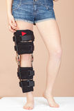 Adjustable support for leg or knee injury Royalty Free Stock Photos
