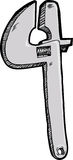 Adjustable Wrench Royalty Free Stock Images