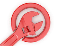 Adjustable wrench. 3d. Adjustable wrench on white isolated background. 3d Stock Photo