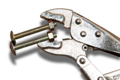 Adjustable wrench. Royalty Free Stock Images