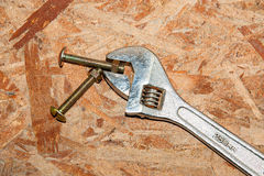 Adjustable wrench. Stock Images