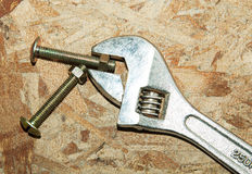 Adjustable wrench. Royalty Free Stock Photography