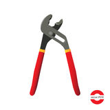 Adjustable wrench. Hand tools.  on white background. Vector illustration Stock Images