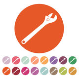 The adjustable wrench icon Stock Photos