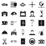 Adjustable wrench icons set, simple style Royalty Free Stock Photography
