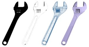 Adjustable Wrench Illustration Vector Royalty Free Stock Images