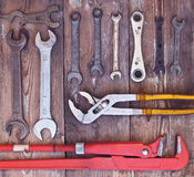 Adjustable wrench set Royalty Free Stock Image