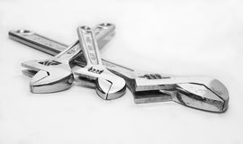 Adjustable wrench Royalty Free Stock Photos