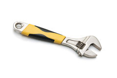 Adjustable wrench on the white background Royalty Free Stock Photography