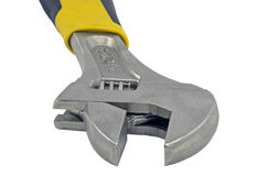 Adjustable wrench work spanner Stock Image