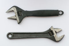 Adjustable wrenches, close up Stock Image