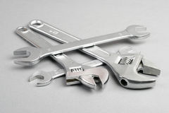 Adjustable wrenches Royalty Free Stock Photo