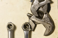 Adjustable Wrenches Stock Images
