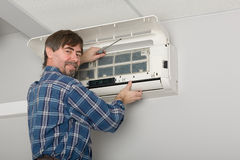 Adjuster air conditioner Stock Photos