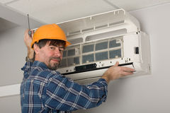 Adjuster air conditioning system Royalty Free Stock Photo
