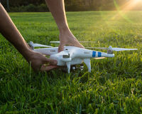 Adjusting camera drone Stock Photography