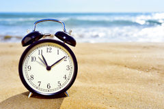 Adjusting forward the clock for the summer time Royalty Free Stock Photos