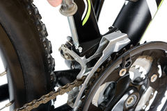Adjusting front derailleur MTB Stock Images